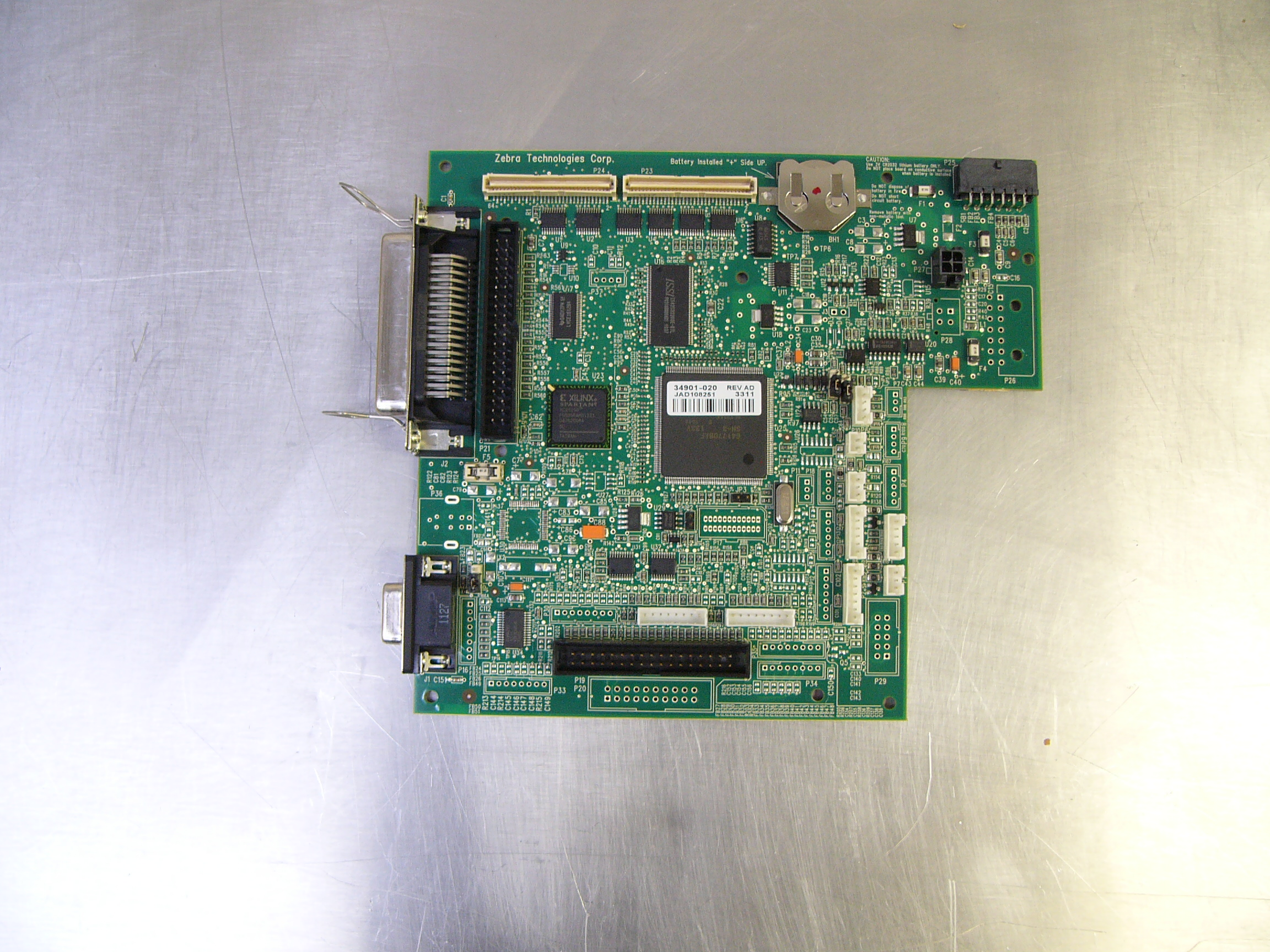 34901-020M -  - 34901-020M, 4MB Main Logic Board, Zebra 105SL see description