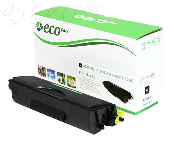 TN460 -  - TN430, TN460  ECOPLUS BROTHER TONER CTG, BLACK, 6K HIGH YIELD