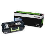52D1H00 - QQ0277 - Lexmark 521H High Yield Return Program Toner Cartridge - Black - Laser - 25000 Page - 1 Each