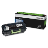 52D1X00 - QQ0445 - Lexmark 521X Extra High Yield Return Program Toner Cartridge - Black - Laser - 45000 Page - 1 Each