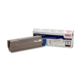 43324404 - F83376 - Oki Black Toner Cartridge - Black - LED - 5000 Page - 1 Each