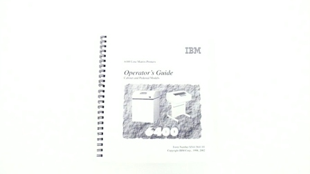 24H8766 -  - IBM 6400 Operator's Guide, English